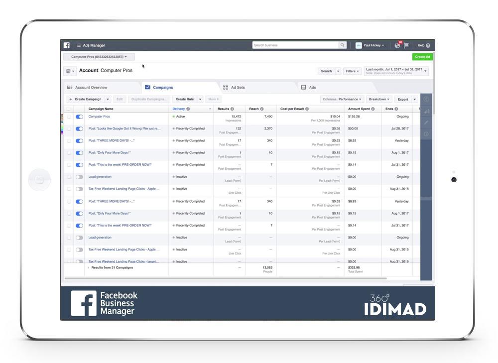 Idimad 360 Agencia de Marketing Digital y Tecnología en Salamanca Anuncios en Facebook e Instagram