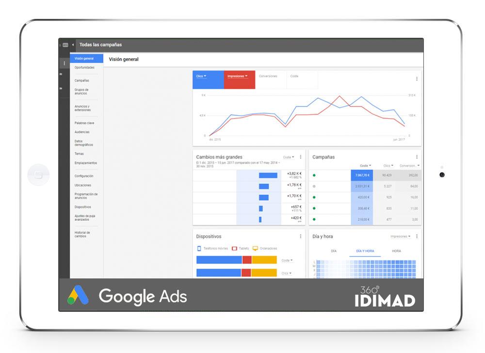Idimad 360 Agencia de Marketing digital y Tecnología en Salamanca campañas de publicidad en Google